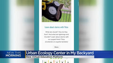'Urban Ecology Center in My Backyard' -- a virtual education platform