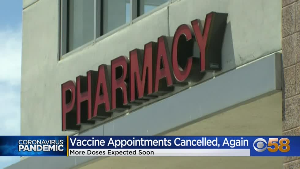 Thousands of vaccine appointments postponed due to lack of supply,...
