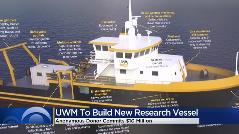 Anonymous donor commits $10M for UW-Milwaukee research vessel