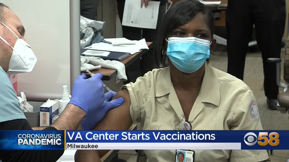 Milwaukee VA begins vaccinating health care workers