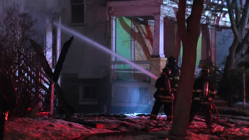 Cause of fire at vacant house under investigation on Milwaukee's north side