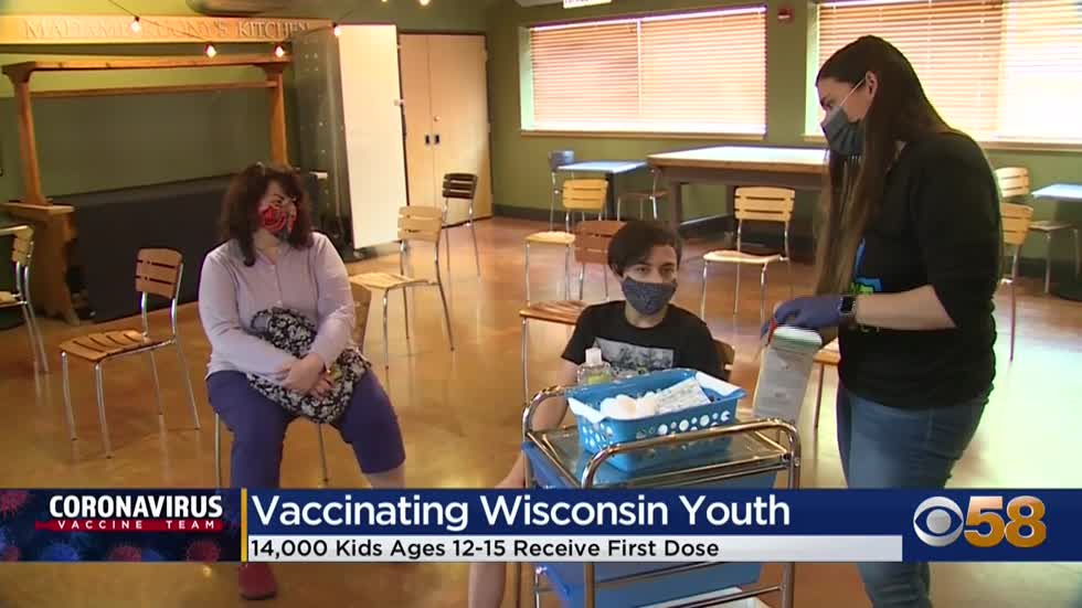 14,000 kids age 12 to 15 have received first dose of COVID-19...