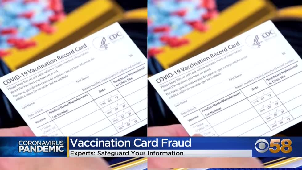 Experts warn of COVID-19 vaccination card fraud