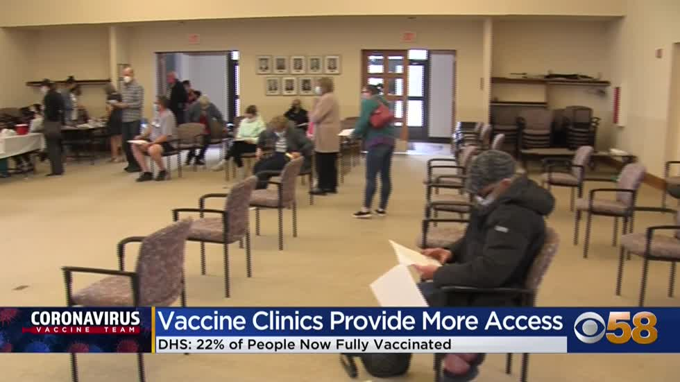People take advantage of vaccine clinic at Mequon City Hall