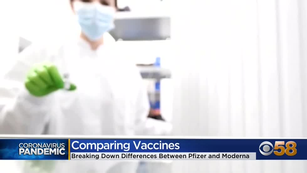 Differences between Moderna and Pfizer's COVID-19 vaccines