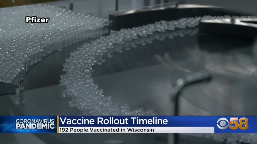 192 Wisconsinites vaccinated against COVID-19; more doses expected in the coming weeks