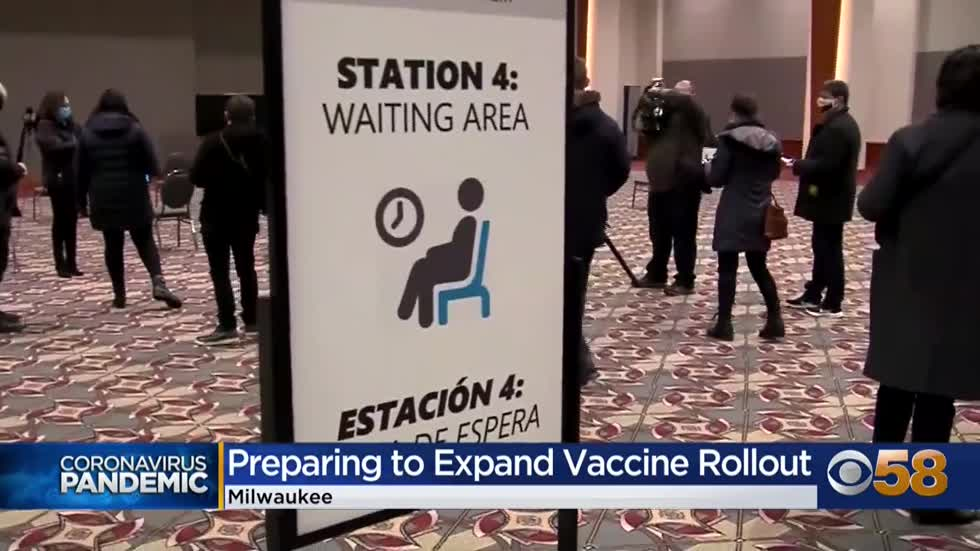 Milwaukee to begin vaccinating people 65 and older at Wisconsin...