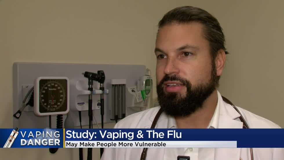 Study shows e-cigarette use could lead to higher risk of getting the flu
