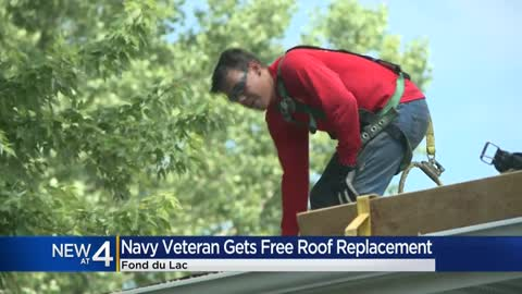 Fond du Lac veteran receives new roof from national program