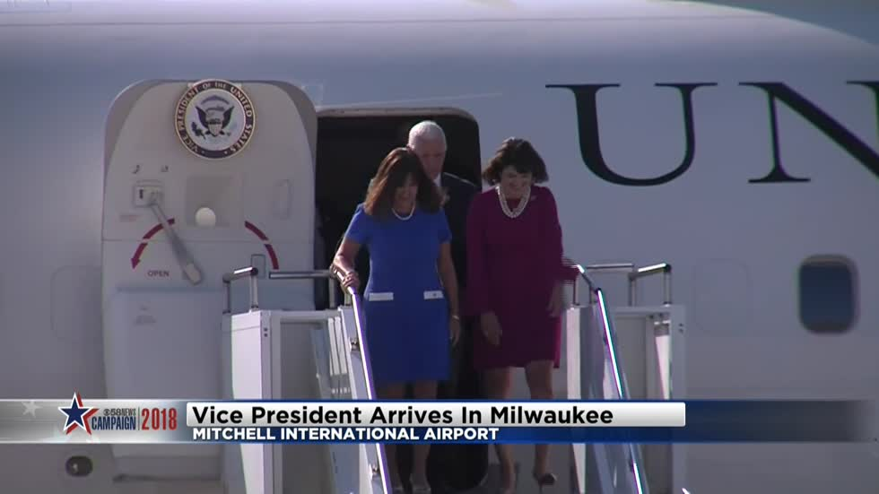 Vice President lands in Milwaukee to campaign for Senate candidate Leah Vukmir