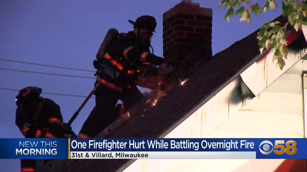 First responder hurt in house fire near 31st and Villard