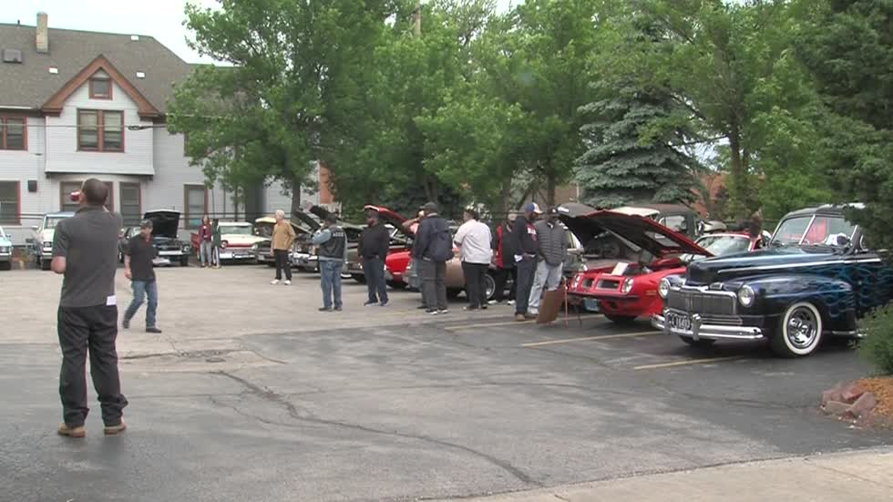 Annual Vintage Car Show held at Milwaukee steakhouse