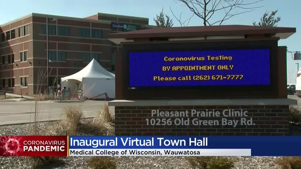 Doctors answer dozens of coronavirus questions during first Medical College of Wisconsin virtual town hall meeting