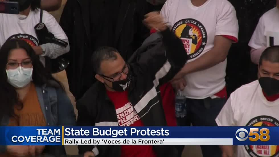 Protesters call for inclusion of drivers' licenses, in-state...