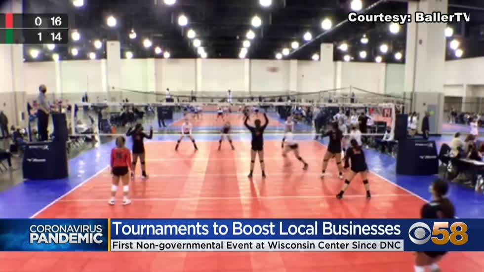 'The sport that we all love': Volleyball players glad to...