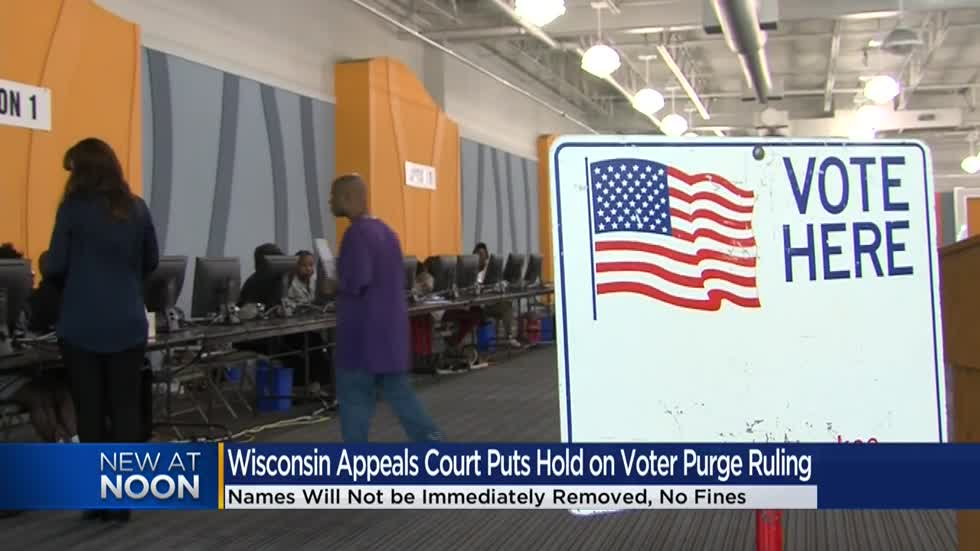 Wisconsin appeals court puts voter rolls purge on hold