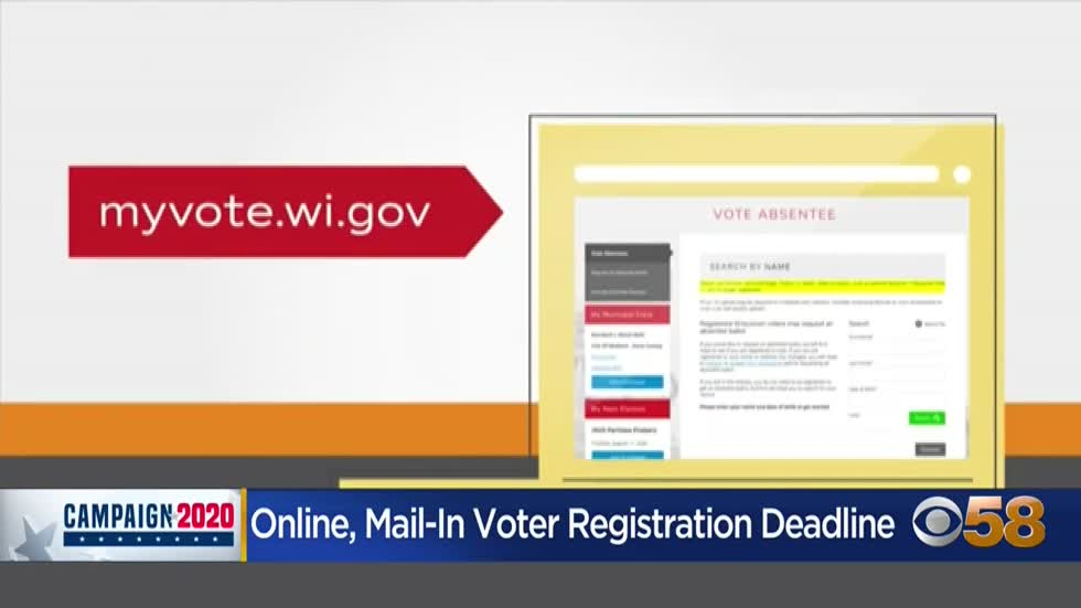 Wisconsin online, mail-in voter registration deadline arrives; other options available