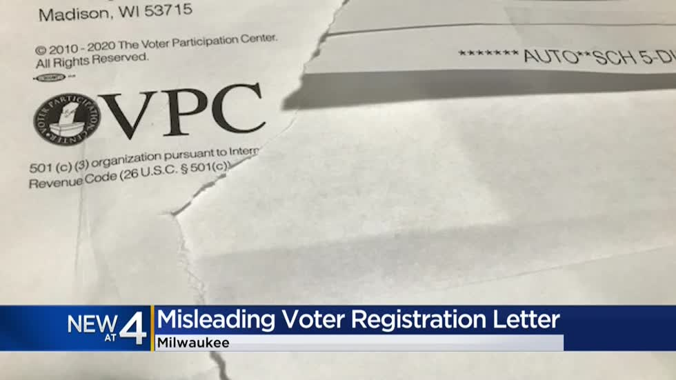 Voter registration notice mailed to thousands in Wisconsin causing 'confusion'