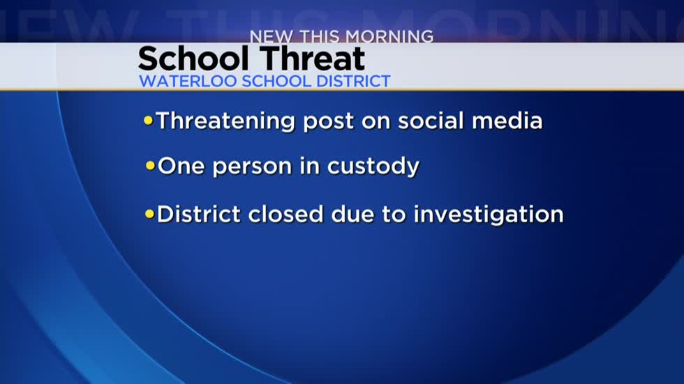 Waterloo School District closes due to threat