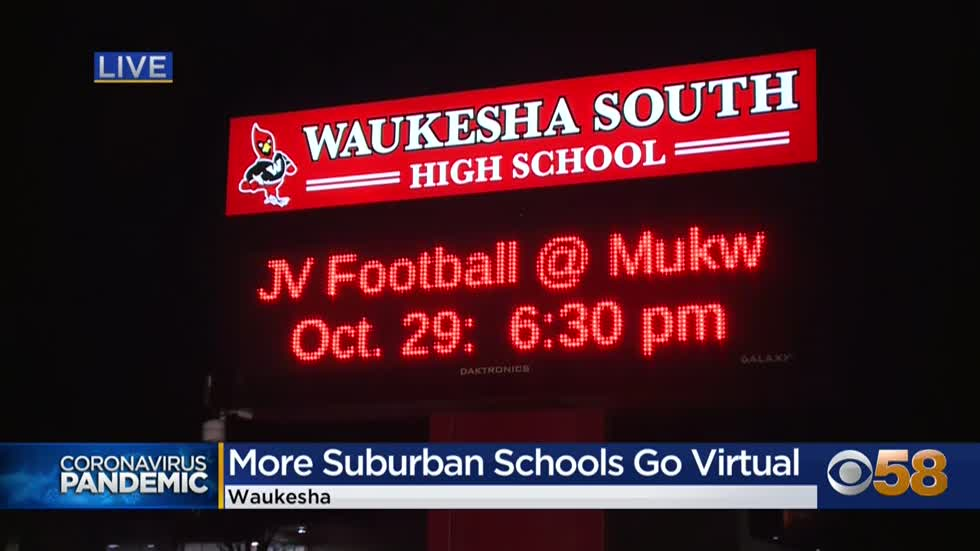 Waukesha South HS transitions to virtual learning, about 150...