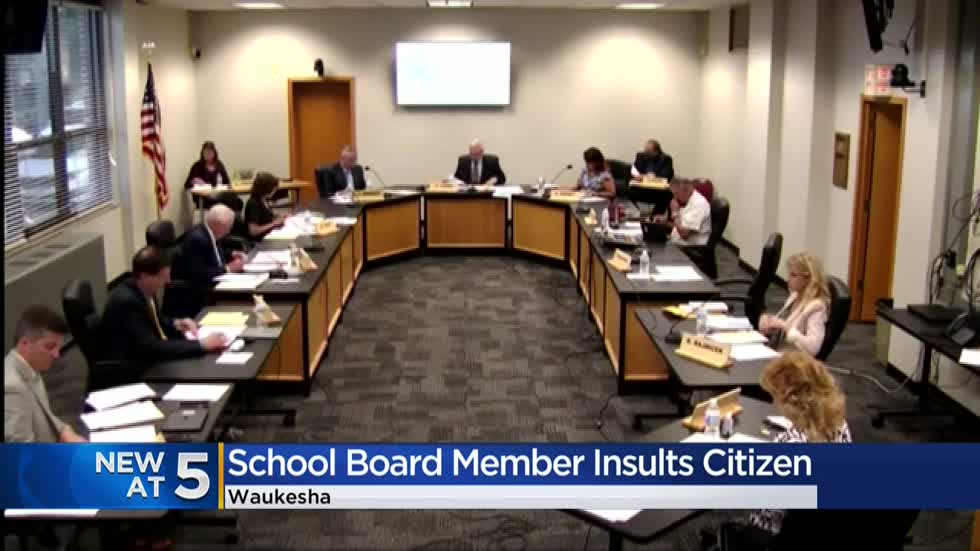 Waukesha school board member mutters expletive under their breath at public commenter