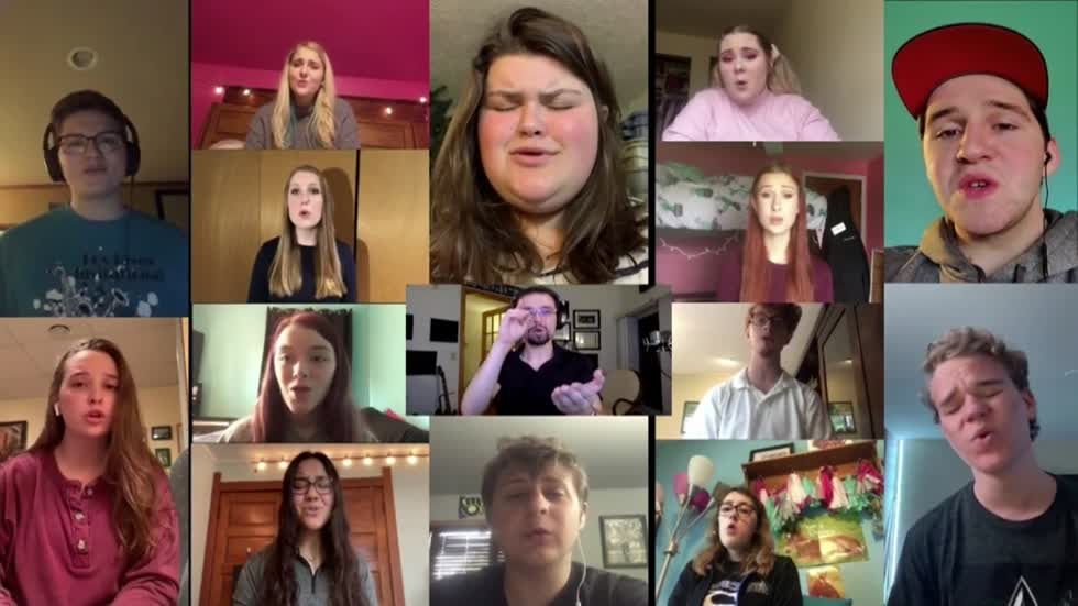 Waukesha West senior choir members perform end-of-the-year tribute song