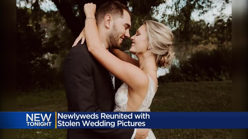 'Thankfulness and gratefulness': Good Samaritan helps return couple's stolen wedding photos