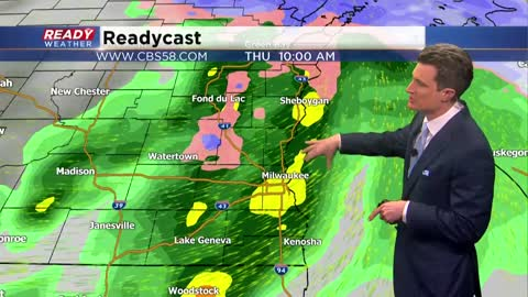 Several rounds of precipitation expected on Thursday