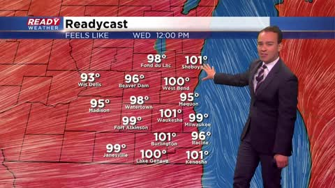Heat and humidity build with an isolated strong storm