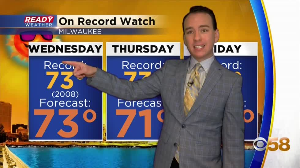 Record tying warmth expected the next few days