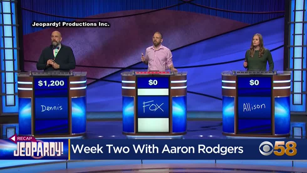 'Correct!' Packers Aaron Rodgers gets it right to start Jeopardy!...