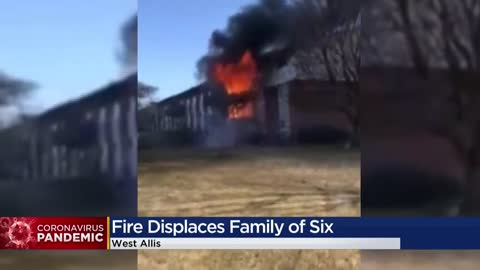 West Allis family of six displaced after fire, worried about safety during pandemic