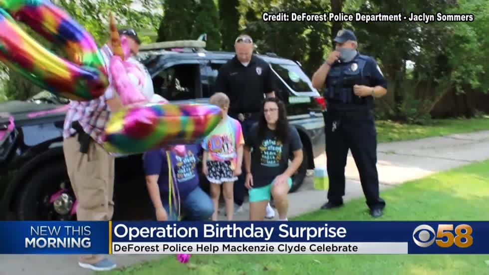 DeForest Police Department helps make West Allis girl's birthday...