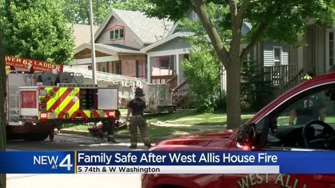 Family safe after West Allis house fire