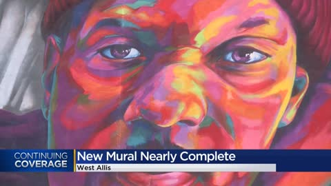 New mural featuring father and son nears completion in West Allis