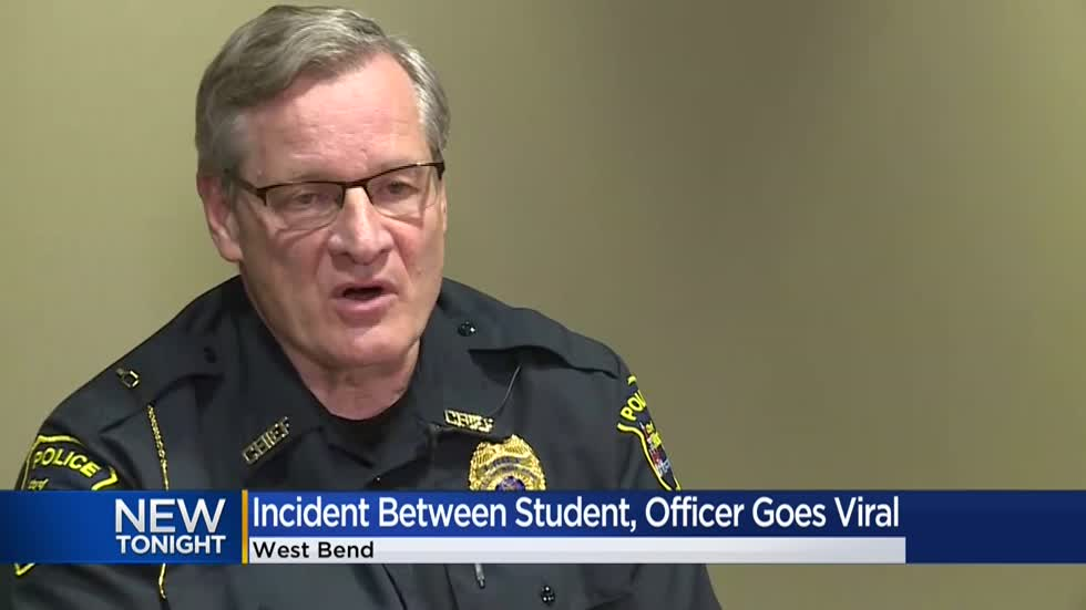 West Bend police respond to viral video of student, school officer