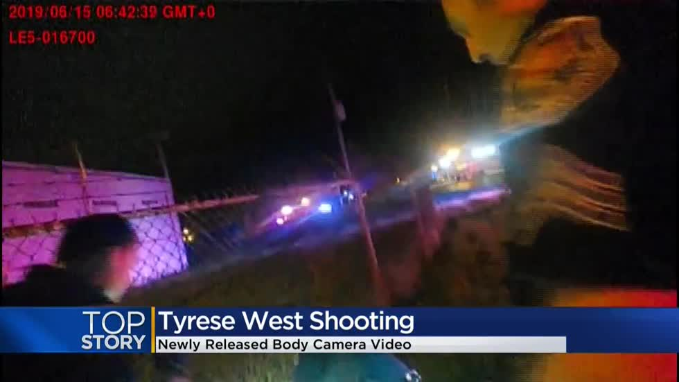 Newly released body camera video shows moment after Tyrese West was shot