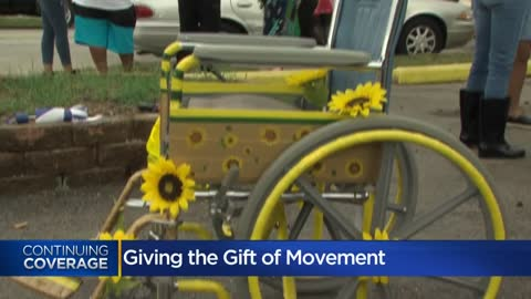 Protestor donates wheelchair to friend who hopes to inspire others...