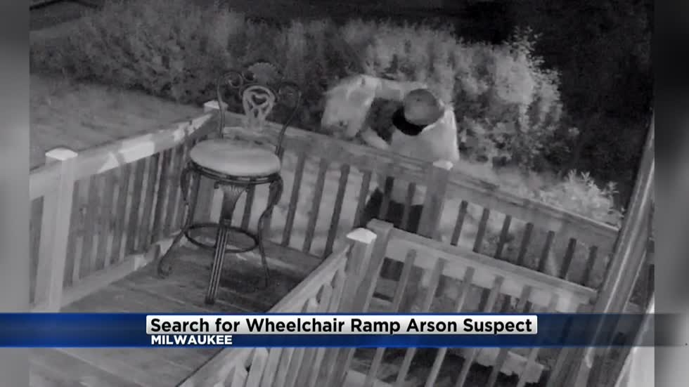 MPD looking for suspect who set wheelchair ramp on fire