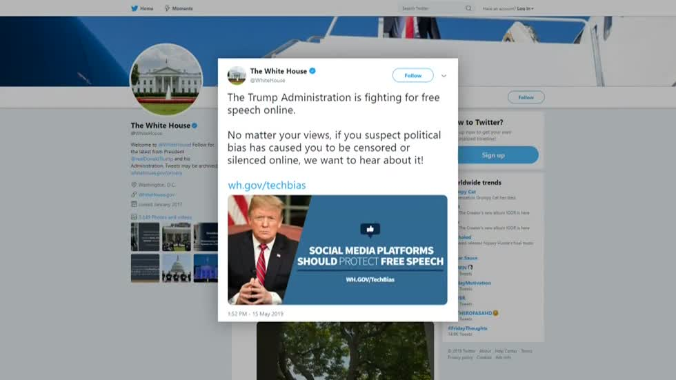 White House creates tool for people to report alleged social media bias