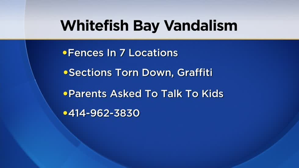 Police in Whitefish Bay investigating after seven reports of vandalized fences