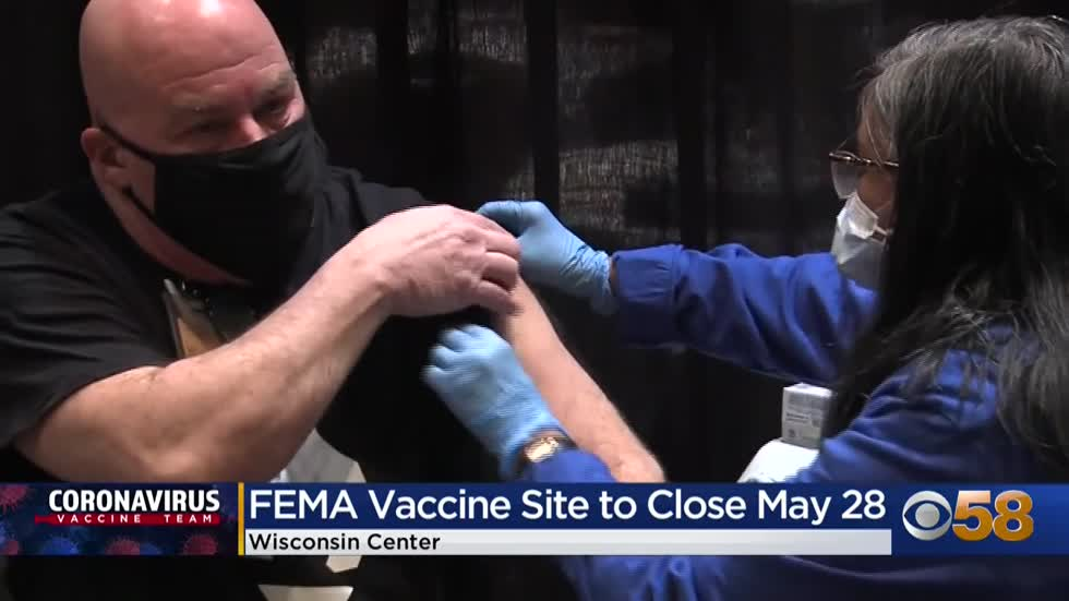 Wisconsin Center COVID-19 vaccination site to close May 28