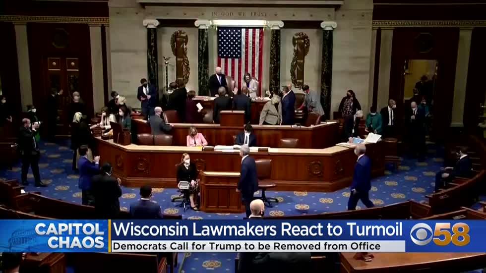Wisconsin members of Congress split over whether President Trump should be removed