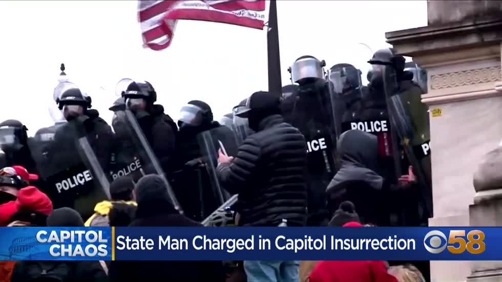 Wisconsin man arrested in Eau Claire after being part of Capitol riot