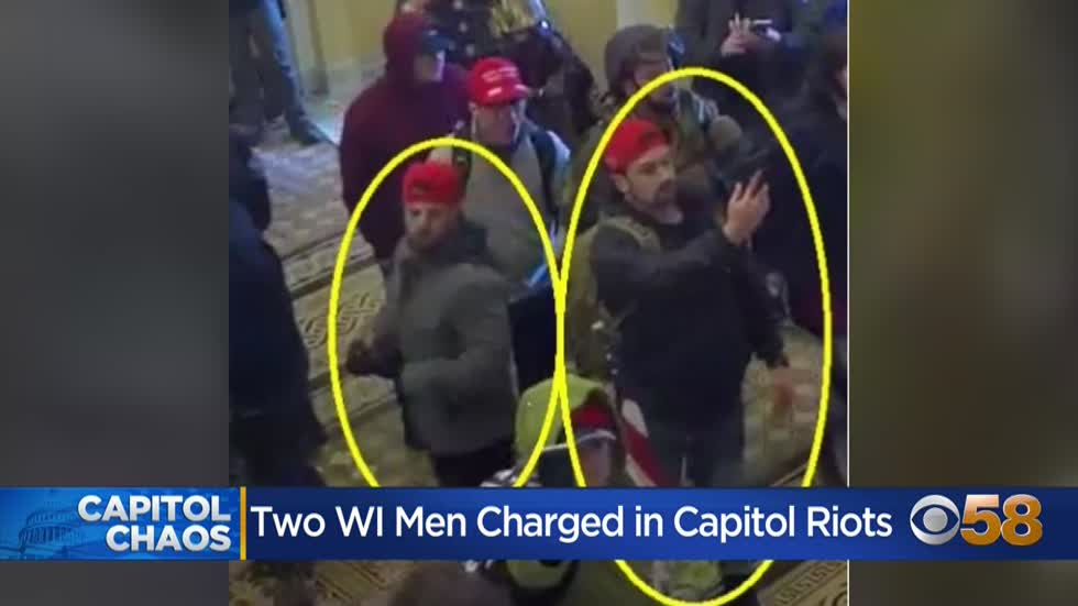 Wisconsin men charged with entering Capitol in Jan. 6 attack