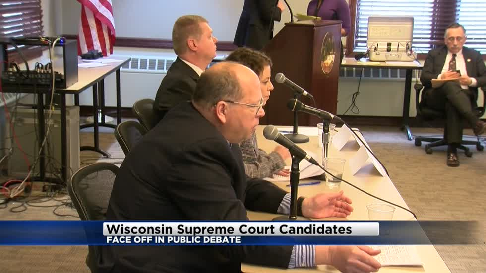 Wisconsin Supreme Court candidates face off in public debate
