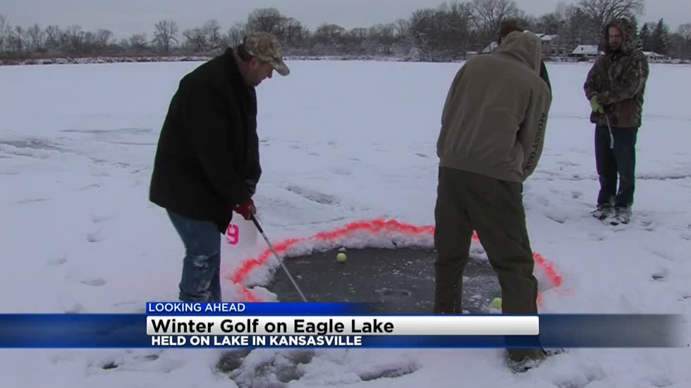 Here's your chance to golf on a frozen lake