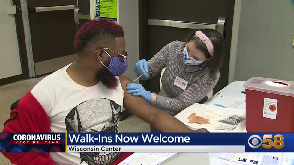 Wisconsin Center now serving as walk-in vaccination clinic