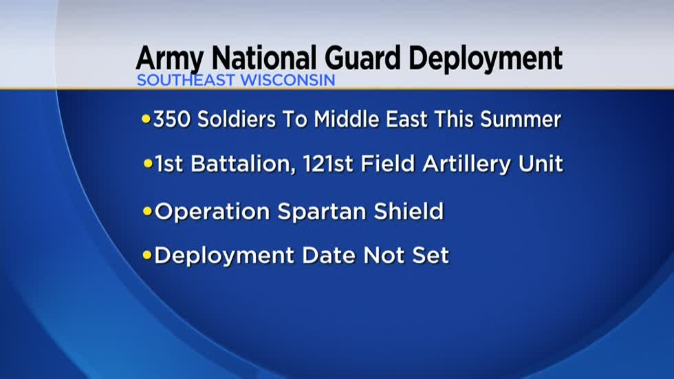 Over 350 Wisconsin National Guard soldiers to deploy to the Middle East this summer