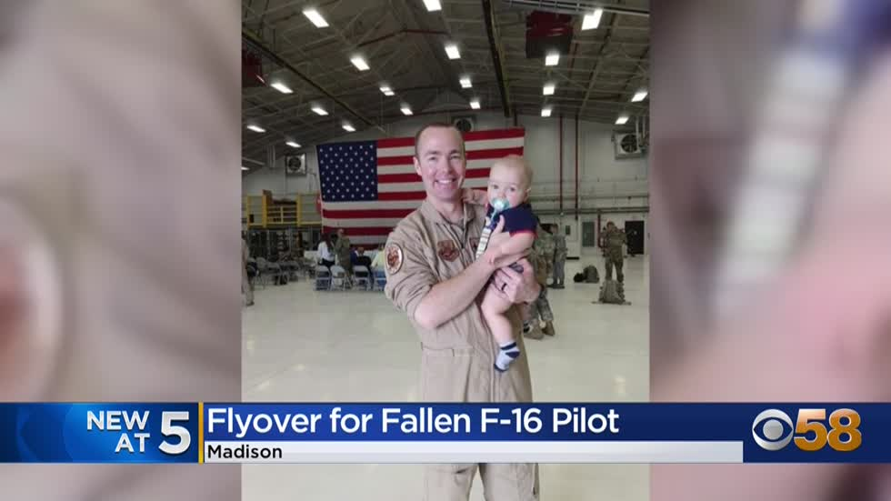 Wisconsin National Guard hosts flyover for fallen F-16 pilot